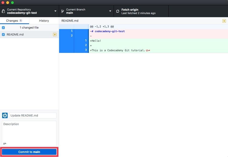 GitHub Desktop - Commit To Main
