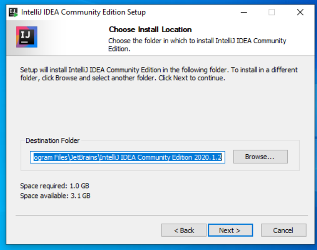 IntelliJ IDEA Install Location