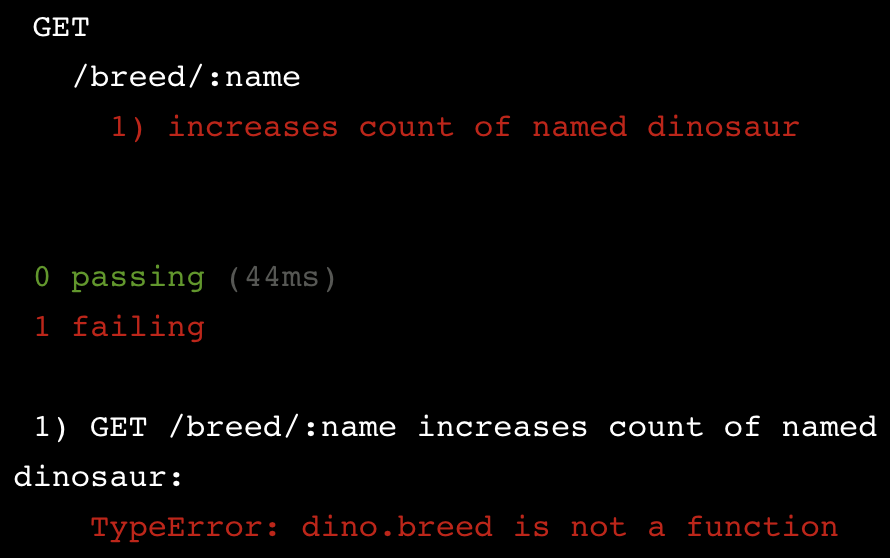 TypeError: Dinosaur.findByName is not a function