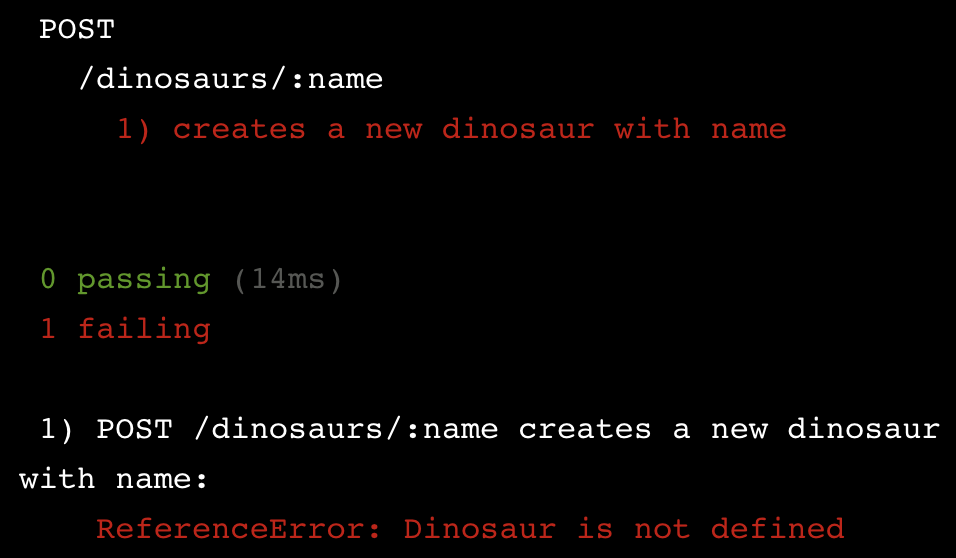ReferenceError: Dinosaur is not defined