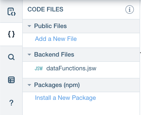 Wix-data Module Backend File