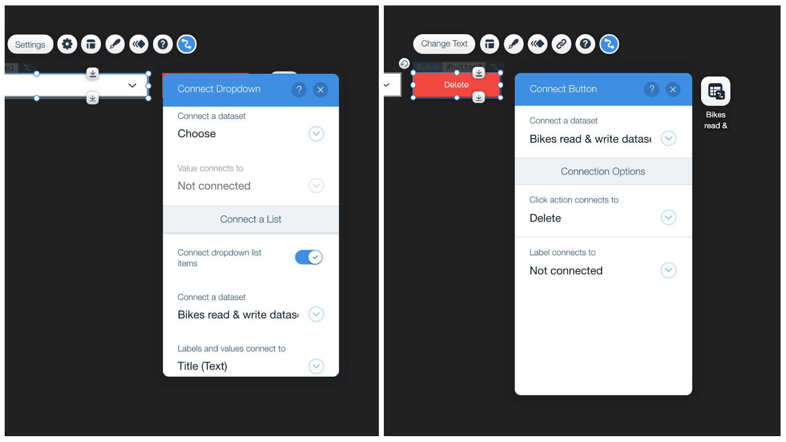 Wix Read Write Dataset Element Options
